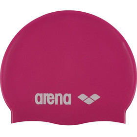 arena Classic Silicone Swimming Cap Juniors fuxia-white